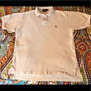POLO Ralph Lauren Oatmeal Polo Shirt - Size L
